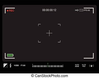 Photo or video camera viewfinder
