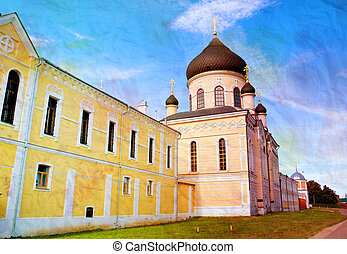 Photo orthodox temple in the monastery