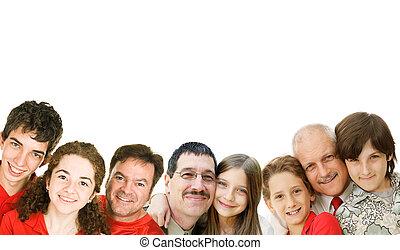 photo, pères, frontière, jour, stockage
