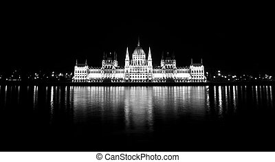 photo, parlement, hongrois