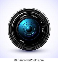 photo, photographie, lentille, fond, flamme, appareil photo
