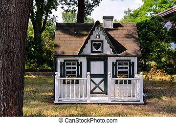 Small house in a garden