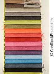 Samples of colored cloth