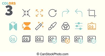 Photo Pixel Perfect Well-crafted Vector Thin Line Icons 48x48 Ready for 24x24 Grid for Web Graphics and Apps with Editable Stroke. Simple Minimal Pictogram Part 2