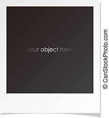 photo, polaroid, cadre, pour, ton, objet