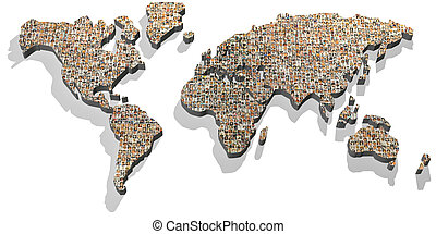 photo portrait world map