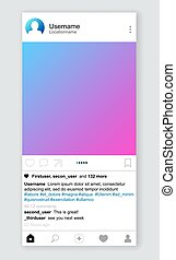 Photo post in social network - Posting photography in social...