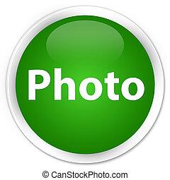 Photo premium green round button