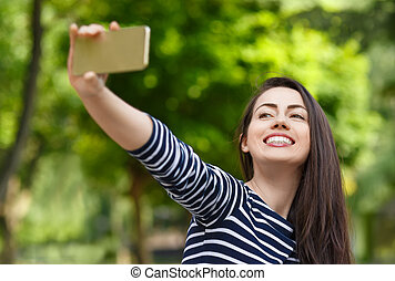 photo prenant, girl, selfie