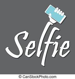 photo, prendre, selfie, intelligent, téléphone