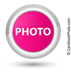 Photo prime pink round button
