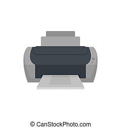 Photo printer icon, flat style