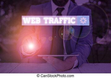 photo, reçu, projection, texte, montant, envoyé, visiteurs, signe, données, website., conceptuel, toile, traffic.