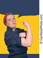 Rosie the riveter - photo re make of Rosie the riveter fron ...