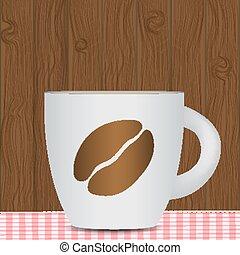photo-realistic, バックグラウンド。, コーヒー, ベクトル, 黒