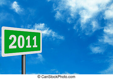 Photo realistic '2011' sign, with space for your text