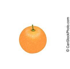 photo-realistic, arancia, frutta, isolato