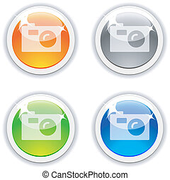 Photo  realistic buttons. Vector illustration.