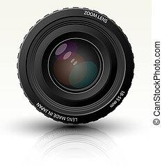 Photo realistic dslr camera lens