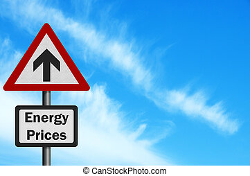 Photo realistic 'Energy Price Rise' sign, with space for...