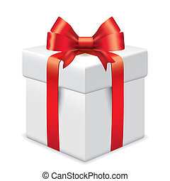 Photo-realistic gift box vector illustration -...
