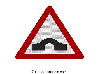 photo-realistic, \'hump-backed, bridge\', signe, isolé