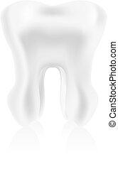 photo-realistic, ilustración, diente