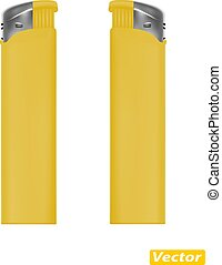 photo-realistic lighter vector isolated on white background