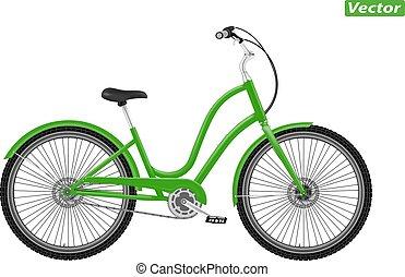 photo-realistic, vector, bicicleta