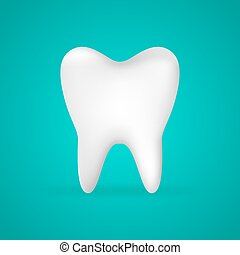Photo-realistic vector illustration of a white tooth - isolated icon