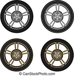 photo-realistic vector wheel isolated on white background