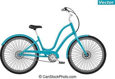 photo-realistic, vektor, cykel
