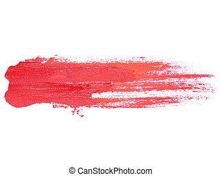 red grunge brush strokes oil paint