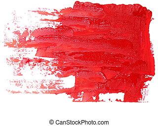 red grunge brush strokes oil paint - photo red grunge brush...