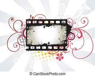 Photo reel vector art - vector art of photo reel with arrow...