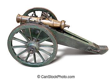 retro old artillery gun