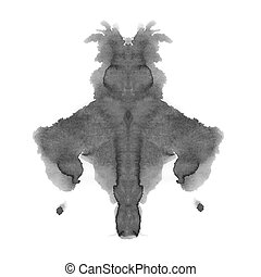 photo Rorschach inkblot test