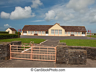 rural school building on a sunny day