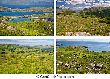 scenic green landscapes from the west coast ireland