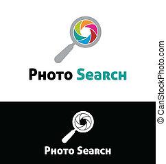 Photo search logo template