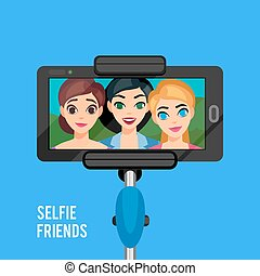photo, selfie, gabarit