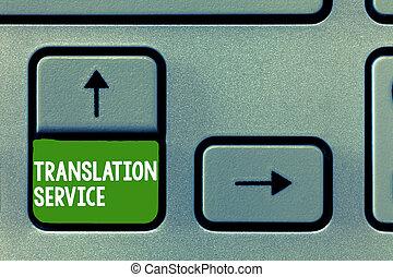 photo, service., langue, texte, équivalent, traduction, signe, mère, conceptuel, langue, projection, cible