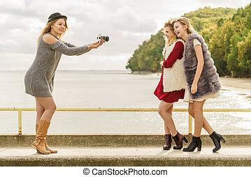 photo shoot, de, moda modela
