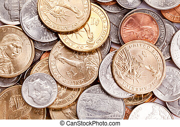 american coins background
