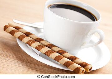 coffee rolls and cup