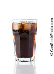 cold cola with ice - photo shot of cold cola with ice