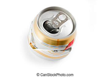 crushed beer can