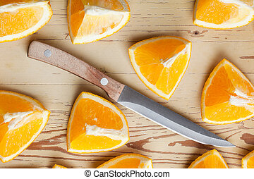 cut orange
