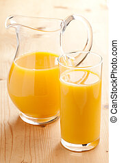 orange juice in pitcher