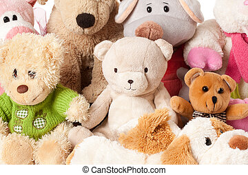 photo shot of stuffed animals